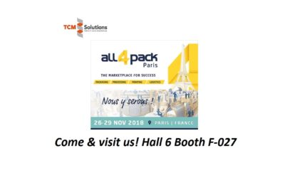 TCM Solutions @ All4Pack PARIS 2018
